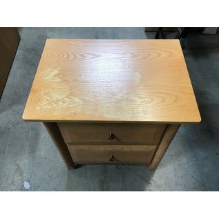 """16 1/2x23x25"""" Wood 2 drawer end table (6/2/21)"""