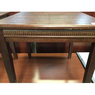 """24x24x23 1/2"""" Dk. Brown wood table (6/2/21)"""