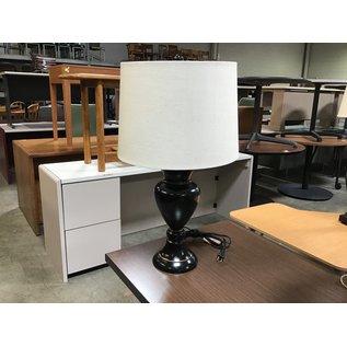 "25"" Black w/bronze strip table lamp (6/10/21)"