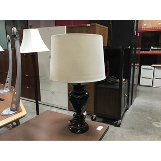 """25"""" Black w/red strip table lamp (6/10/21)"""