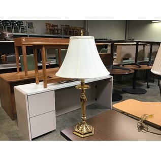 """27"""" Polished brass table lamp (6/10/21)"""