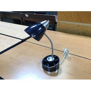 """18"""" Dk blue desk lamp w/single out let (6/10/21)"""