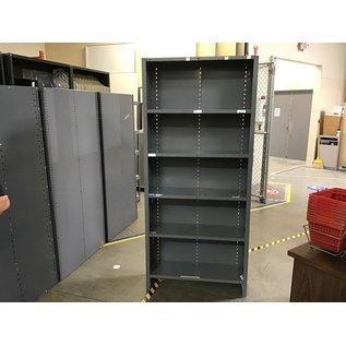 "12 1/2x37 1/2x84"" Gray metal utility shelf unit (6/15/2021)"