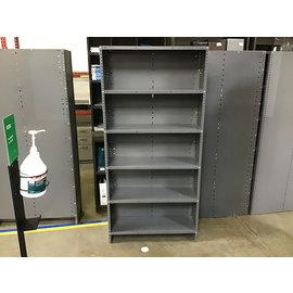 "12x36x75"" Gray metal utility shelf unit (6/15/21)"