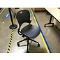 Blue/gray mesh desk chair on castors (6/15/21)
