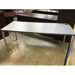 "30x72x28"" Gray metal work table (6/23/21)"