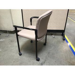 Lt. Brown side chair on castors (6/24/21)