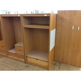 """24x36x72"""" Wood wardrobe w/1 drawer & 1 shelf (8/21/19)"""