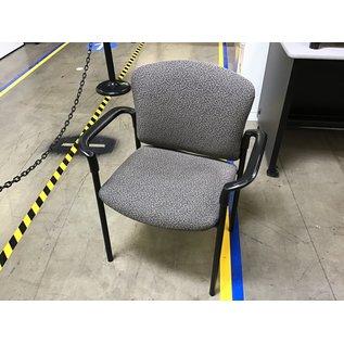 Gray pattern metal frame stacking chair (6/30/21)