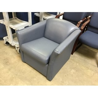 Blue leather lounge chair (6/30/21)