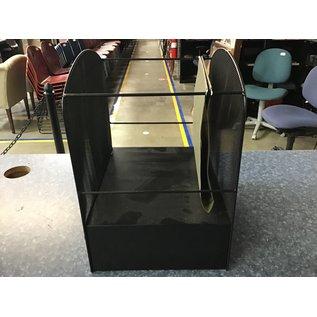 Black wire mesh hanging file/ 2 shelves holder (7/6/21)