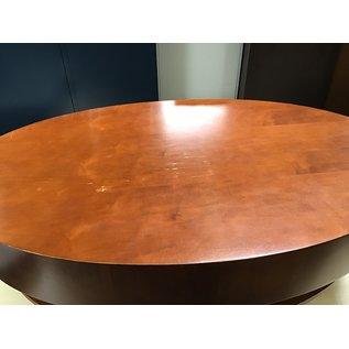 "25 x 42 x 17"" Wood oval coffee table some nicks (7/7/21)"