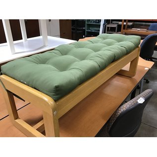 """17 x 48 x 13"""" Oak bench with seat cover (7/7/21)"""