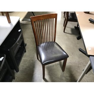 Wood frame leather seat dining chair (7/20/21)