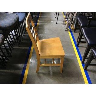 Lt Oak wood desk chair (08/31/21)