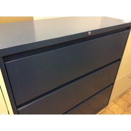 "18x42x41"" dark blue 3 drawer Lateral File 1/21/19"