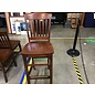 Dark oak counter height chairs  sm. chips (8/3/21)