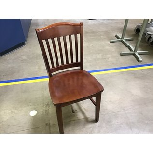 Dk. Oak wooden dining chairs sm. chips(8/3/21)