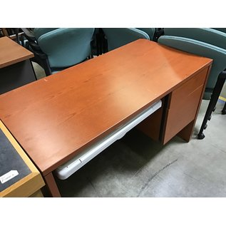 "24x48x30"" desk w/ keyboard tray 2 file drawers (8/3/21)"