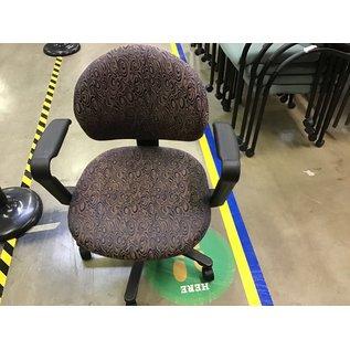 Purple patterned desk chair on castors (8/10/21)