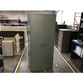 "81"" Green  metal storage cabinet (8/10/21)"