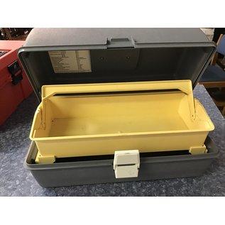 "8x15x8"" Gray plastic toolbox (8/12/21)"