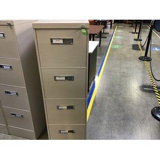 Tan 4 drawer vertical file cabinet (8/24/21)