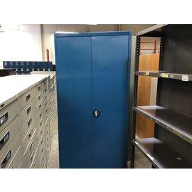 "78"" Blue metal storage cabinet (8/24/21)"