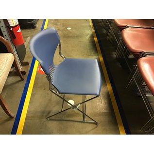 Blue plastic chair chrome frame (8/25/21)