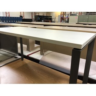 "23 1/2x54x29"" gray wood top work table (8/25/21)"