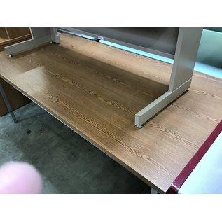 "36x72x29"" wood top metal frame work table (8/25/21)"