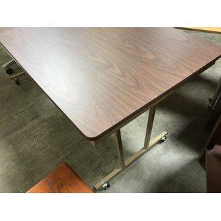 "30x72x32"" wood table metal base (8/25/21)"