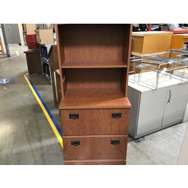 "19x27x60"" wood hutch w/ 2 drawers (8/25/21)"