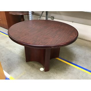 """48"""" Cherry wood conference table (8/25/21)"""