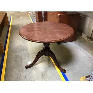 """34"""" Cherry wood round table - some scratches (8/25/21)"""