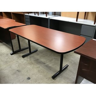 """30x66x29"""" Cherry color top conference table w/metal legs (8/25/21)"""