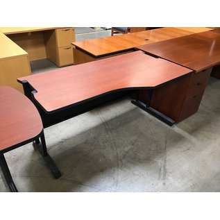 """30x60x29"""" Cherry color curved top work table (8/25/21)"""