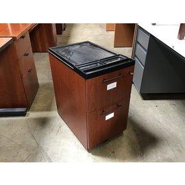 "15x23x26 1/2"" Cherry color 2 drawer file cabinet on castors (8/25/21)"