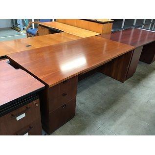 "36x72x29 1/2"" Cherry wood right pedestal desk (8/25/21)"