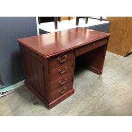 """26x48 1/2x30"""" Cherry wood L/ped desk (8/25/21)"""