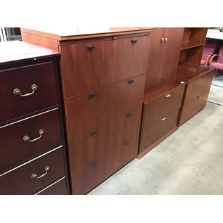 """21x35 1/2x56 3/4"""" Cherry wood lateral file cabinet (8/25/21)"""