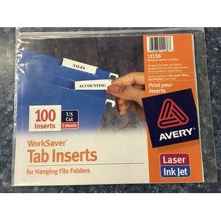 Avery tab inserts (9/1/21)