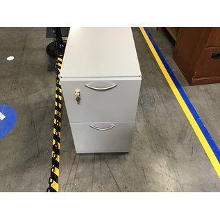 "231/2x15x27"" Beige metal 2 drawer file cabinet (9/7/21)"