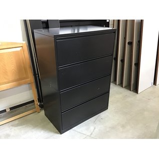 """20x36x50 1/2"""" Black metal 4 drawer lateral file cabinet (08/07/21)"""