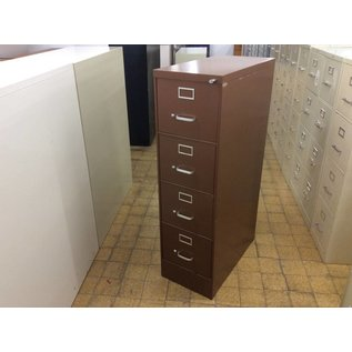 Brown 4 drawer vertical  file cabinet (10/15/2020)