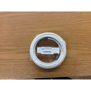 20' White coaxial cable (5/22/18)