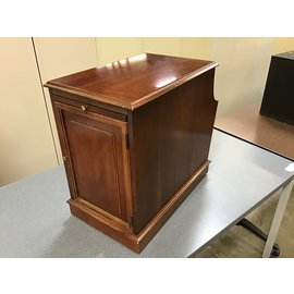 "20x12 1/2x20"" Cheery wood  table stand w/ magazine rack (9/28/21)"