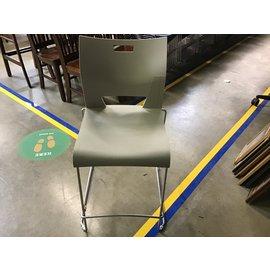 Beige plastic w/metal frame high framed chair (9/28/21)