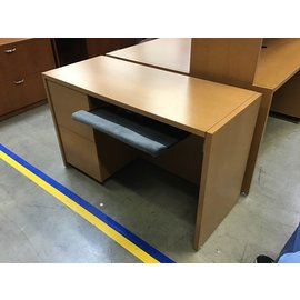 "20x48x29"" Lt oak color wood left pedestal  desk 10/5/21"