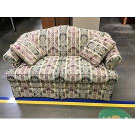 """58"""" w Lt. Brown pattern love sofa (10/19/21)"""